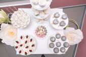 Draufsicht bei pop Cake auf einer Hochzeit-furshet