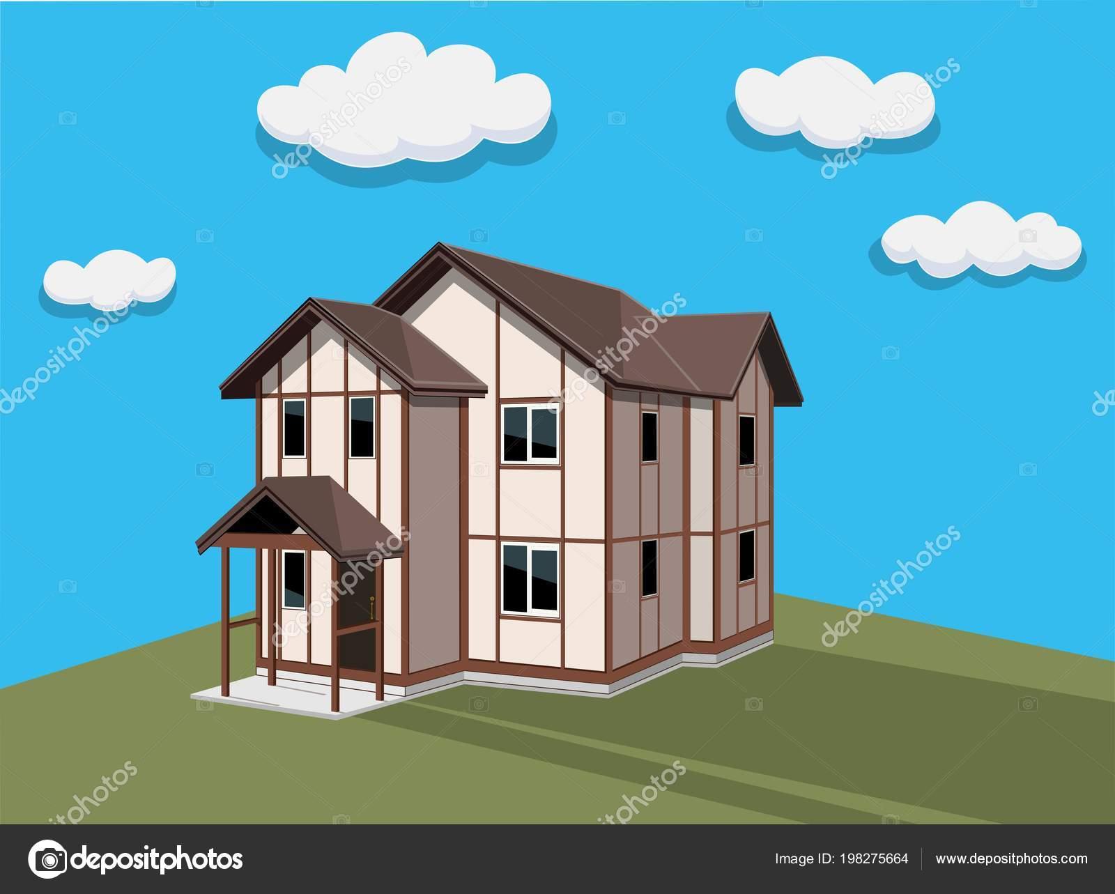 Esterno Di Una Casa : Esterno della casa illustrazione vettore edificio moderno facciata