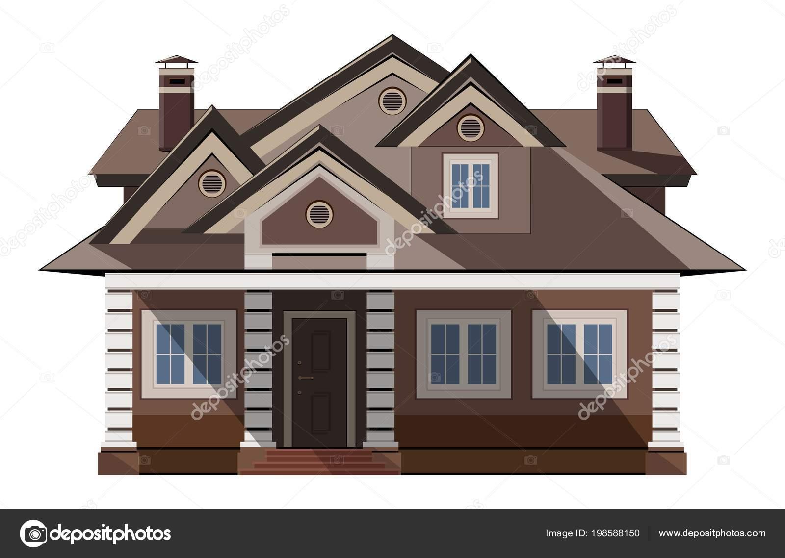 Esterno Di Una Casa : Vettore facciate case esterne esterno della casa illustrazione