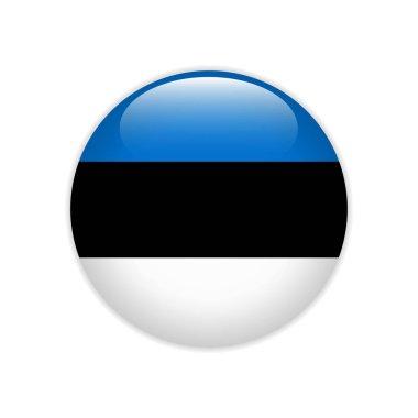 Estonia flag on button
