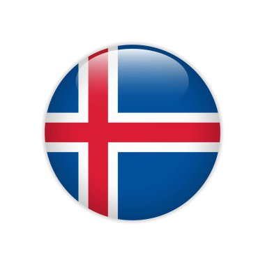 Iceland flag on button