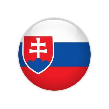 Slovakia flag on button