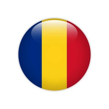 Romania  flag on button