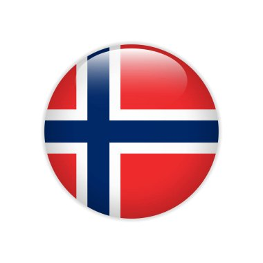 Norway flag on button