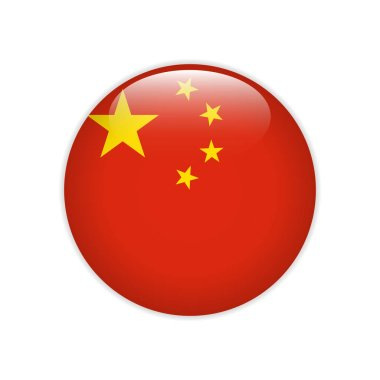 China flag on button