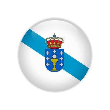 Flag Galicia button