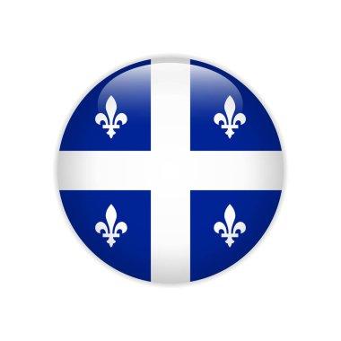 Flag of Quebec button