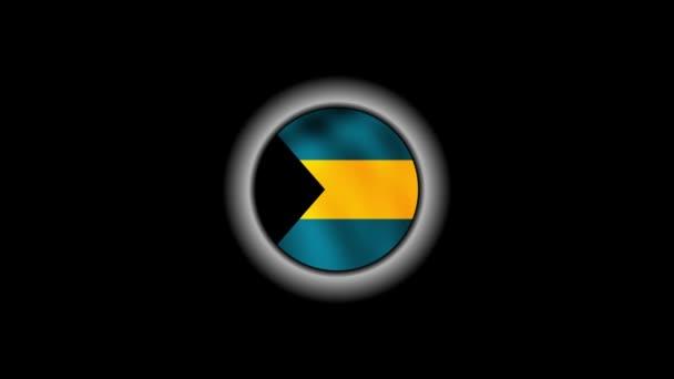 Bahamas flag button 1080p