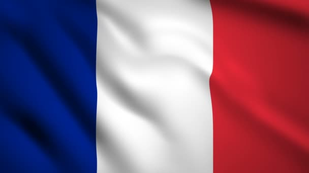 France flag Motion video waving in wind. Flag Closeup 1080p HD  footage
