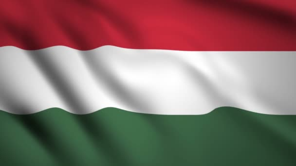Hungary flag Motion video waving in wind. Flag Closeup 1080p HD footage