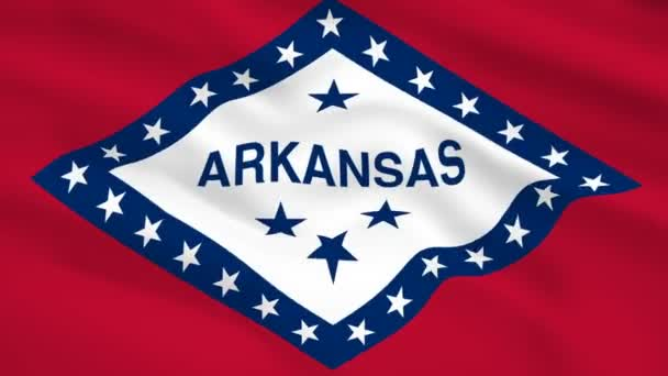 Arkansas USA flag waving in the wind