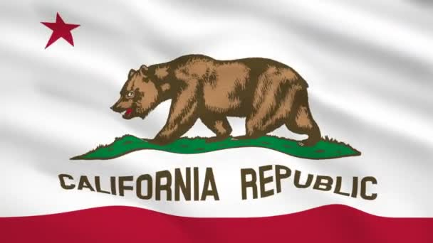California USA flag waving in the wind