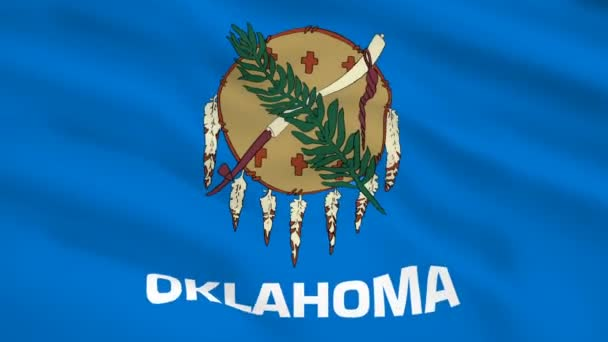 Oklahoma USA flag waving in the wind