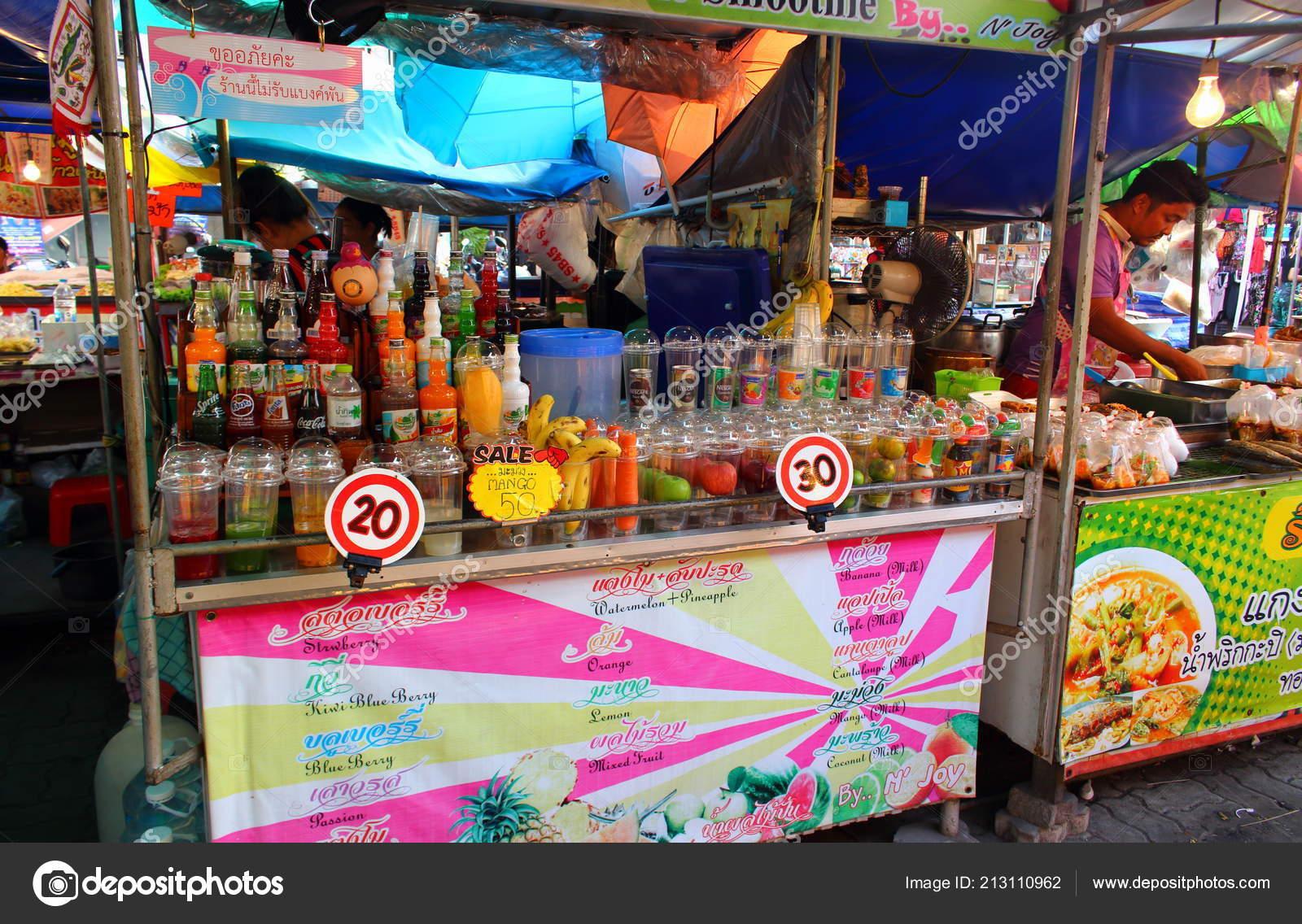 Pattaya City Thailand Mart 2018 Thai Market Counter Fruits