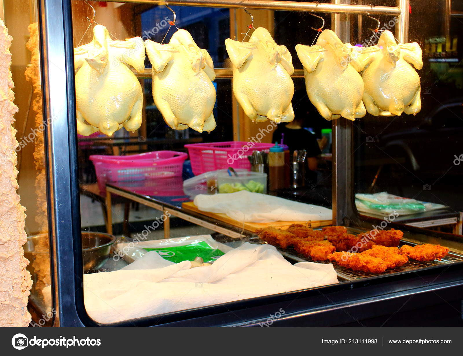 Pattaya City Thailand Mart 2018 Dirty Glass Counter Street Asian — Stock  Photo