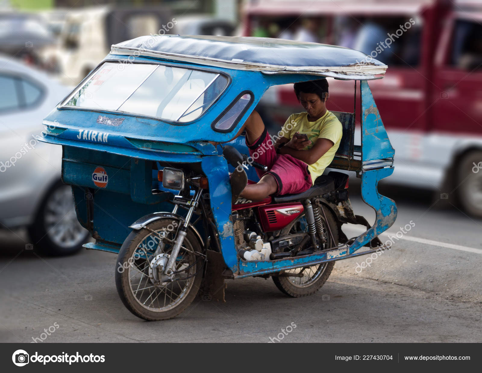 Pictures Tricycle Philippines Palawan Philippines September 2018 Tricycle Motorbike Taxi City Street Waiting Stock Editorial Photo C Al Geba 227430704