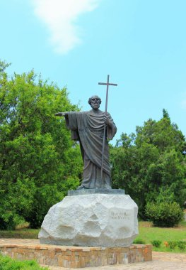 Sevastopol, Republic of Crimea - June 23, 2015: The monument of the Holy Apostle Andrew Pervozvanny is established in Sevastopol on the territory of the National Reserve Chersonesus of Tauris.