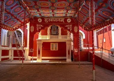 Famous ancient Shantadurga Temple located in the Indian state of Goa