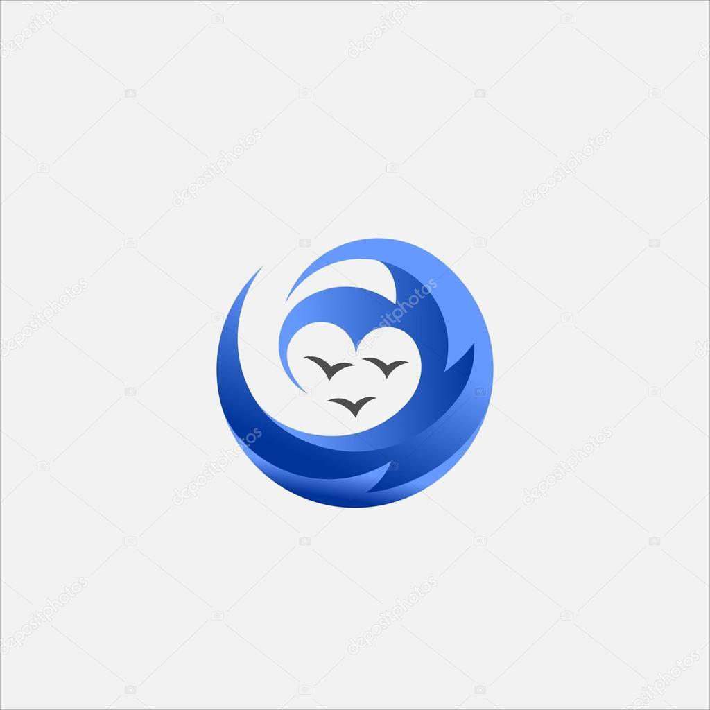 Circle love wave vector