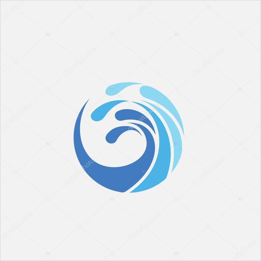Circle wave vector logo