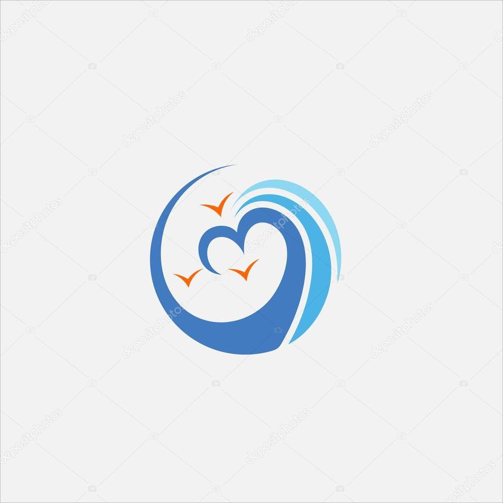 love wave vector logo