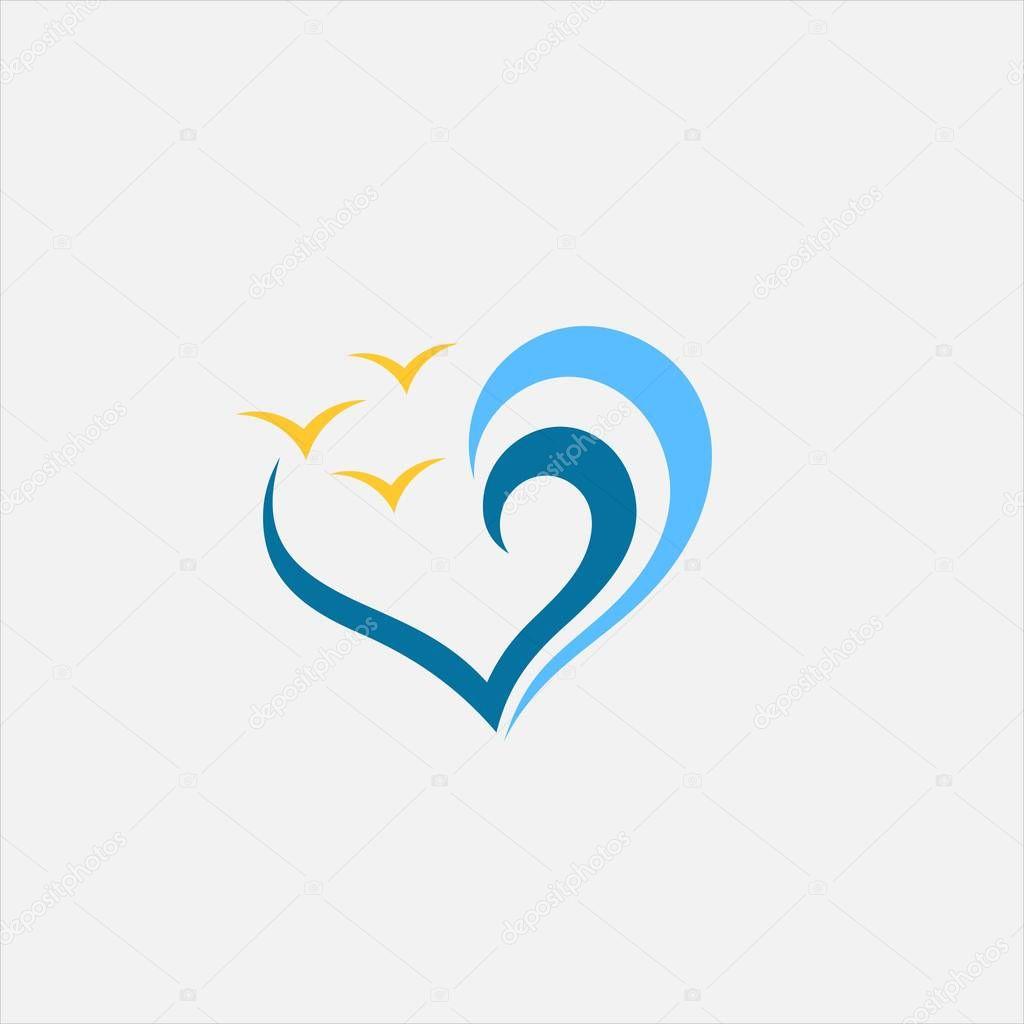 love beach vector logo