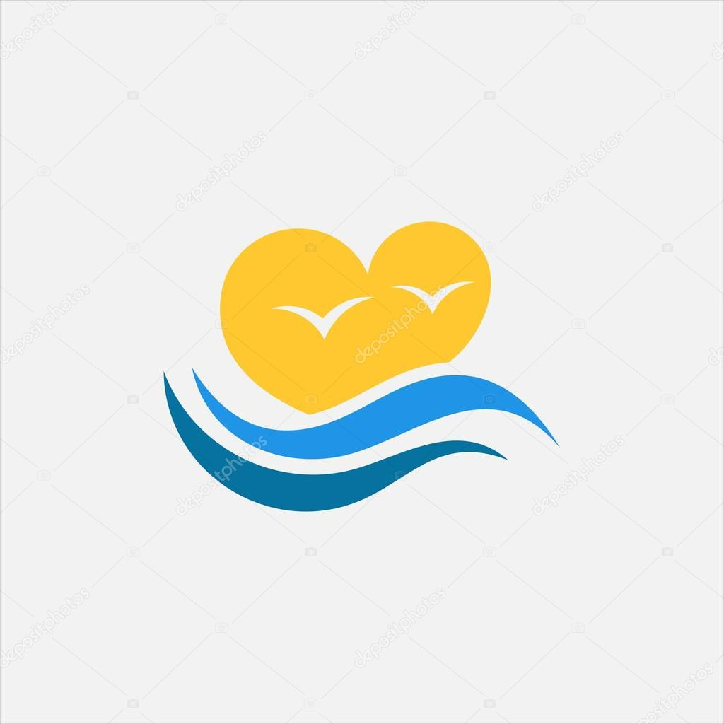 Love Sunrise vector logo