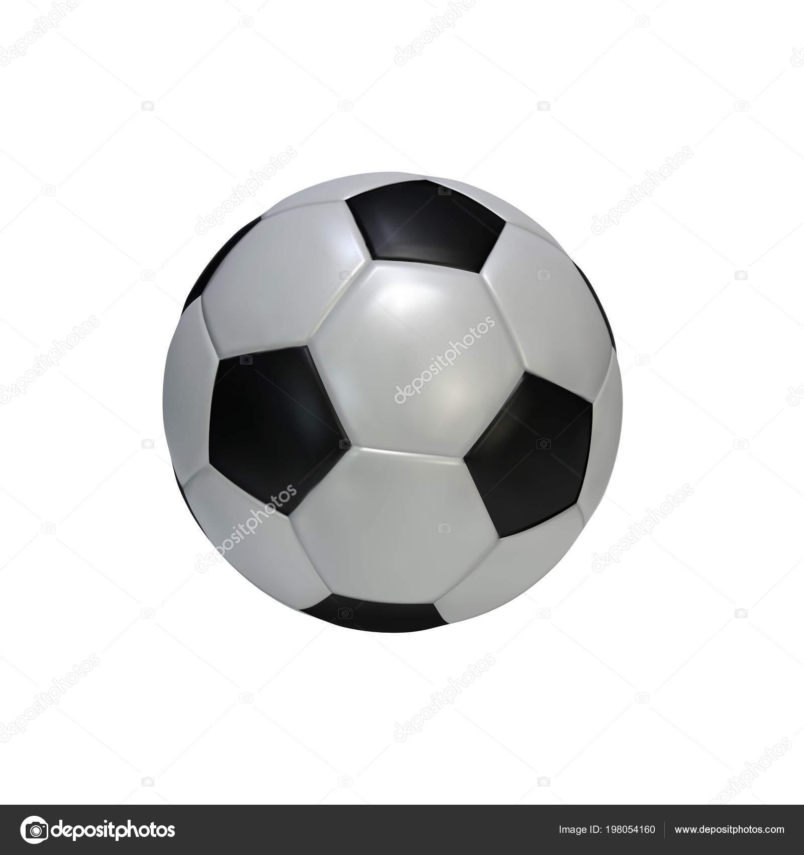 Ρεαλιστικό ποδόσφαιρο μπάλα που απομονώνονται σε λευκό φόντο. Μαύρο και  άσπρο κλασική δερμάτινη μπάλα ποδοσφαίρου. Εικονογράφηση διάνυσμα —  Διάνυσμα με ... 577872b6b5d
