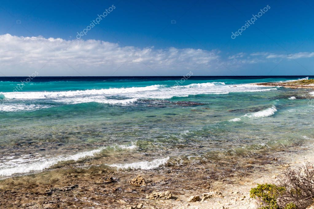 Sea coast of Pay of Pigs near Playa Giron village, Cuba