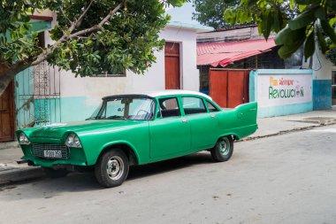 CIENFUEGOS, CUBA - FEBRUARY 10, 2016: Vintage Dodge Kingsway in Cienfuegos, Cuba.