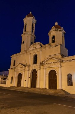 Catedral de la Purisima Concepcion church at Parque Jose Marti square in Cienfuegos, Cuba