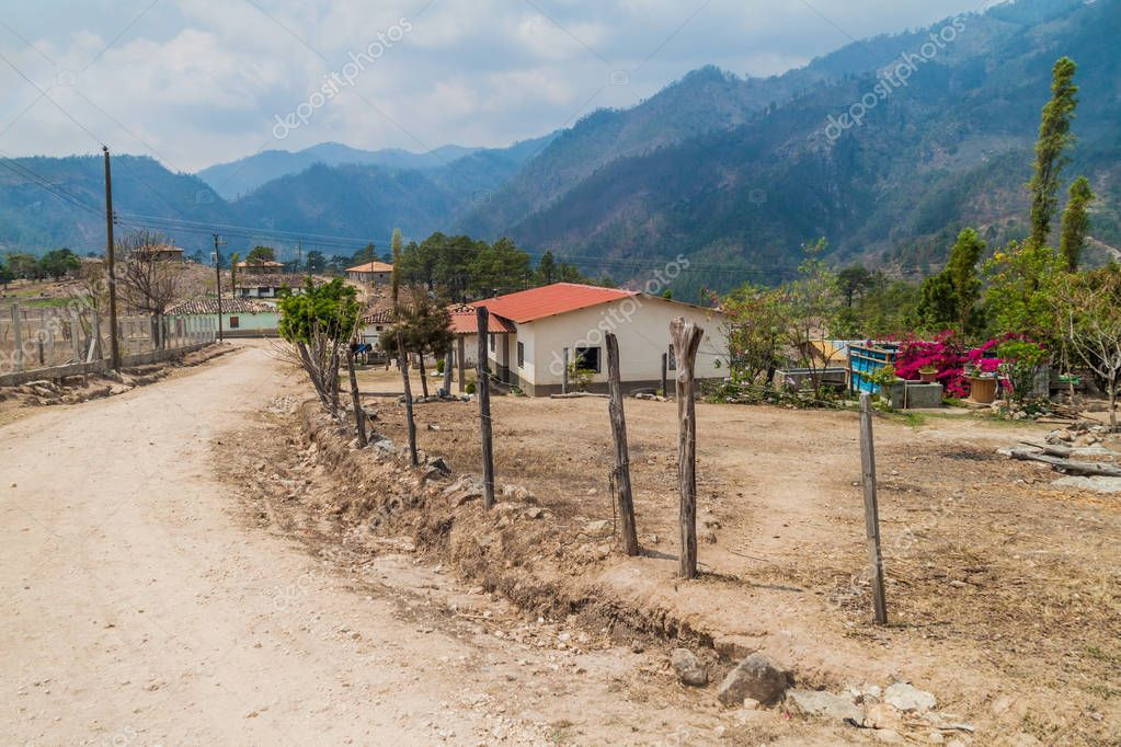 Joalaca village in Lempira department, Honduras