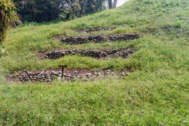 Ancient ruins in eco-archaeological park Los Naranjos, Honduras