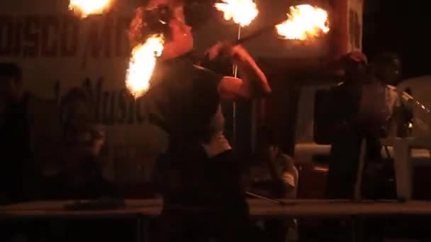 Artists during their fireshow