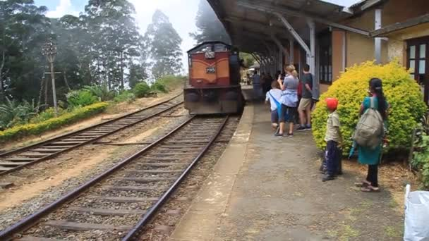 Train arrives at the railway station