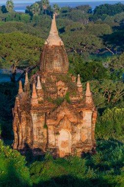 Small overgrown temple in Bagan, Myanmar