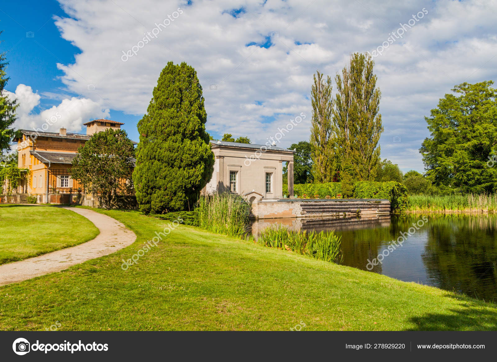 Park Sanssouci Garden Potsdam Berlin Botanical Green Decorative Germany Tree Grass Beautiful Nature Summer Background Style Landscape Europe History Landmark Heritage Natural Fre Stock Photo C Mathes 278929220