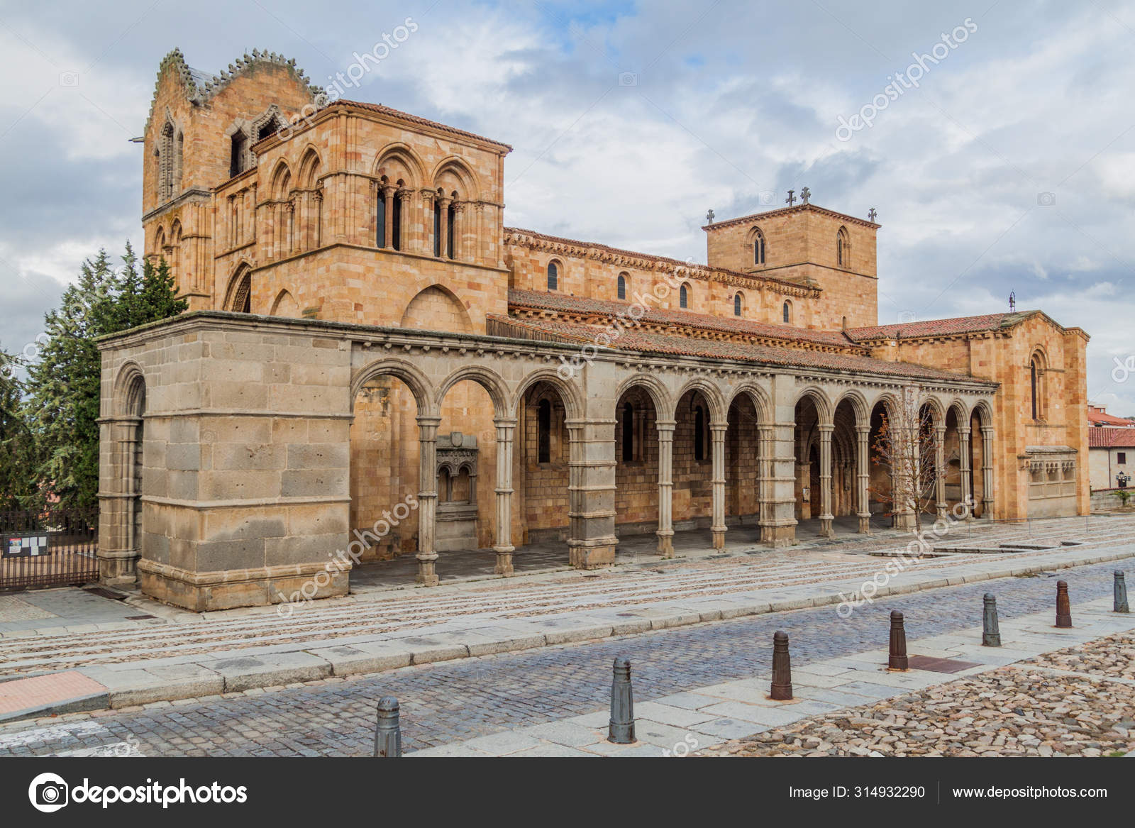 San Vicente Basilica Avila Spain Stock Photo Mathes 314932290