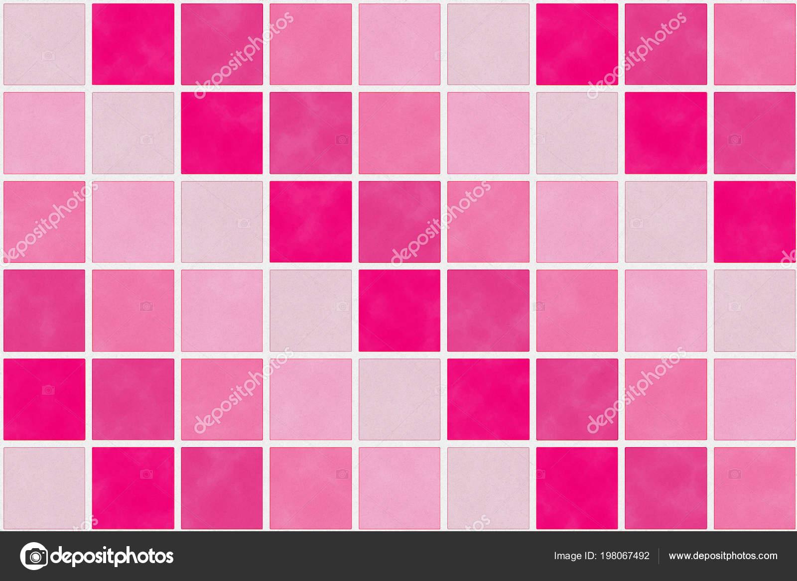 Quadratische Muster Rot Und Rosa Farbton Mit Papier Textur Für