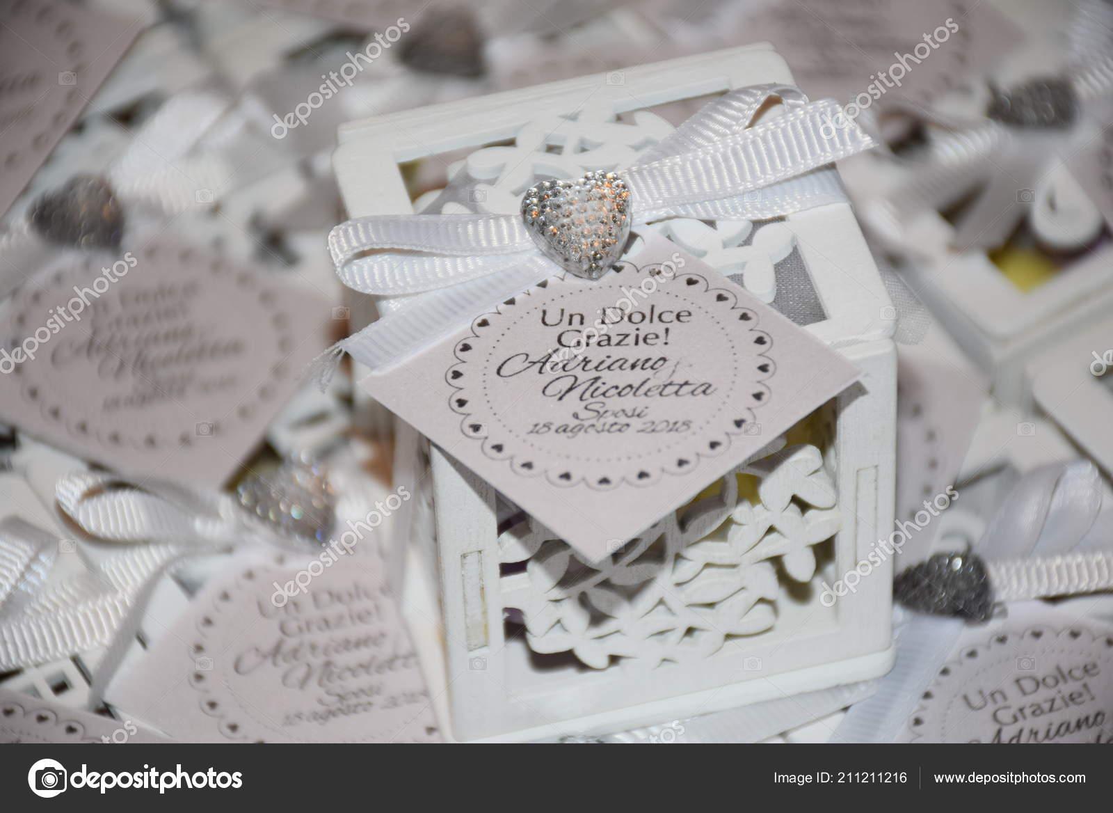 Confetti Segnaposto Matrimonio.Oggetti Matrimonio Segnaposto Con Confetti Realizzato Legno Bianco