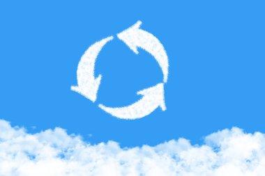 arrow is a cloud shape