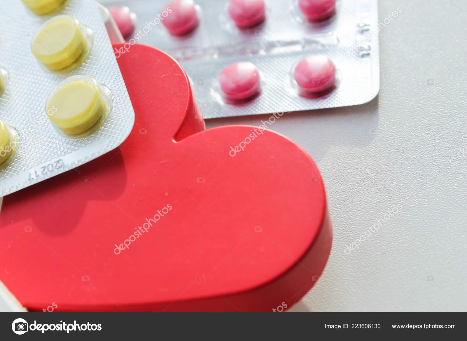 Heart Disease Pills Treatment Prevention Diseases — Stock