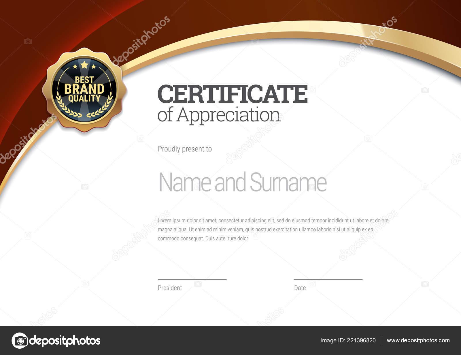 certificate template diploma modern design gift certificate vector