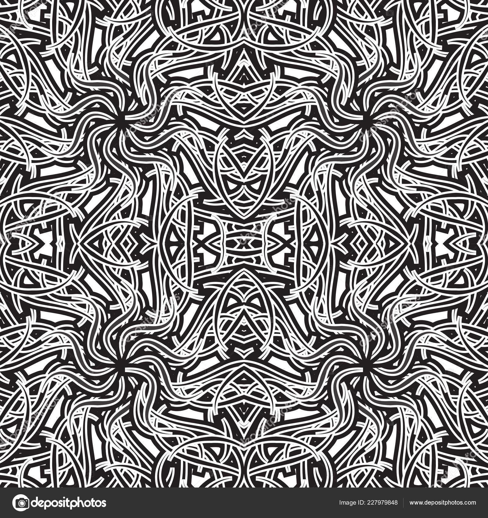 Nahtlose Muster Abstrakt Schwarz Weiss Muster Vektor
