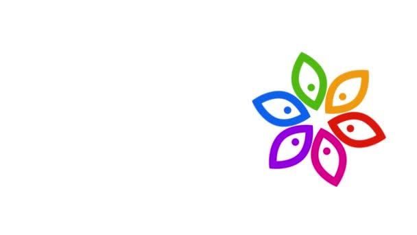 Colorful Flower Video Animation