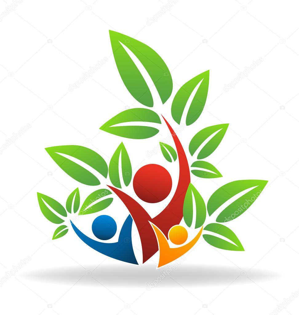 Family tree wellness figure icon
