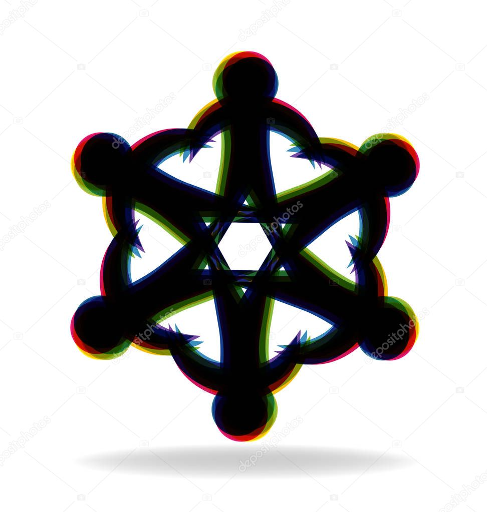 Jewish team people vector