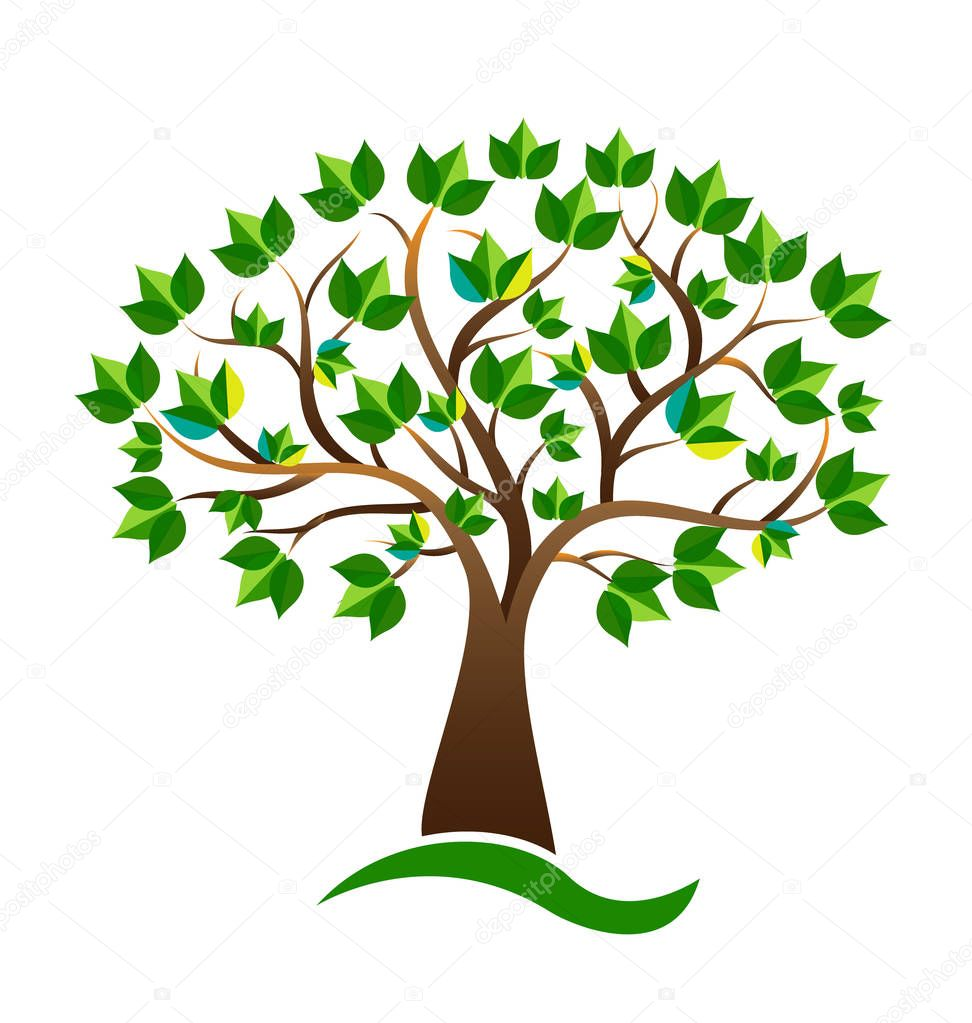Ecology environmental tree vector