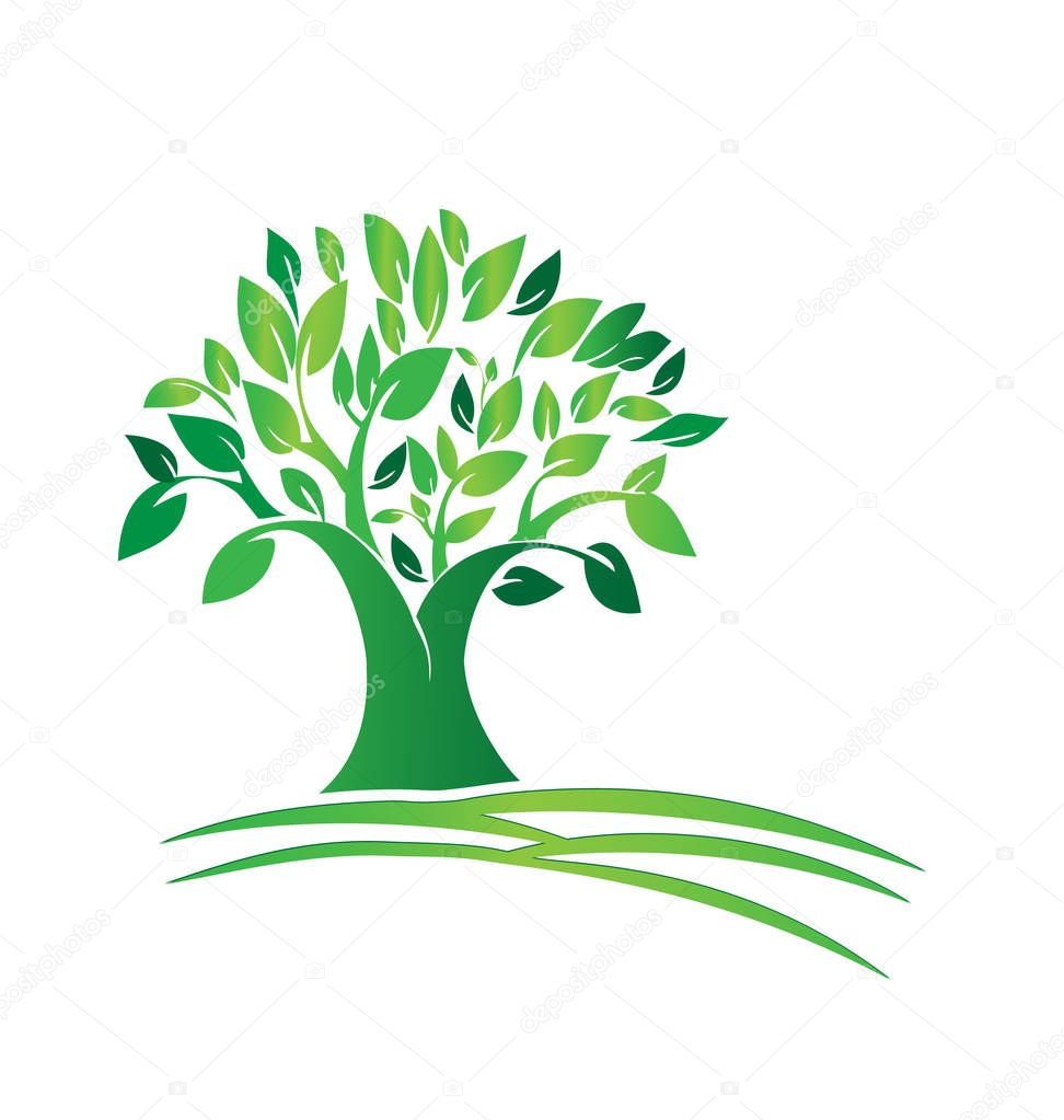 Tree nature environment icon
