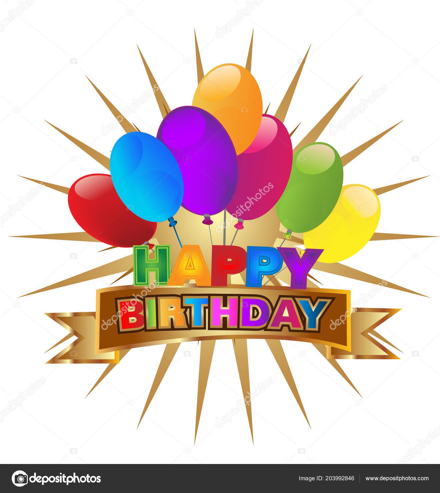 Happy birthday party invitation icon vector vetores de stock happy birthday party invitation icon vector vetores de stock stopboris Images
